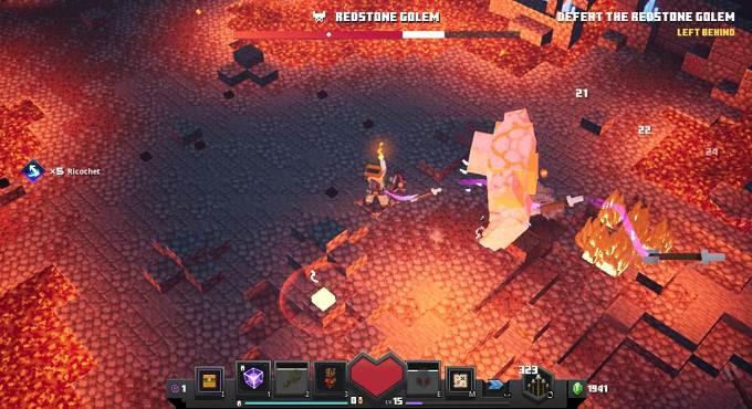 Vaincre Golem de Redstone, pièrre rouge - Minecraft Dungeons Guide (2020)
