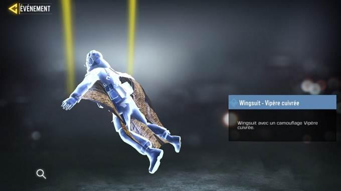Wingsuit - Vipère cuivrée Call of Duty Mobile, saison 6 Mission Loi du plus fort Soluce complète