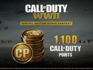 1100 Call of Duty Points gratuits COD WWII - Comment les obtenir