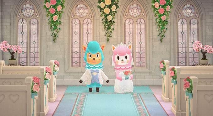 Animal Crossing: Événement des amoureux Reese et Cyrus, séance photo de mariage, défis et récompenses