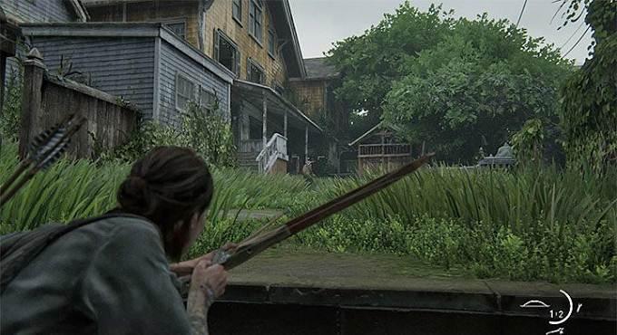 Attaquer des adversaires avec un arc dans TLoU2 / The Last of Us Part 2