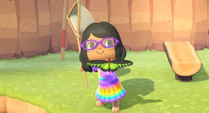 Birdwing de Raja Brooke Aile d'oiseau - Animal Crossing Juin 2020