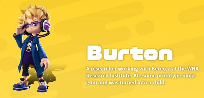 Burton Ninjala - Personnage Jouable Ninjala Switch