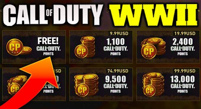 Call of Duty WWII - Comment obtenir 1100 COD points CP gratuits PS Plus