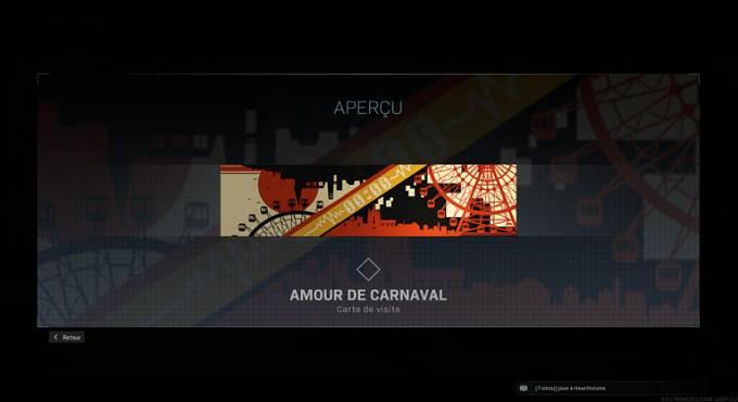 Call of Duty Warzone saison 4 Carte de visite Amour de carnaval Guide