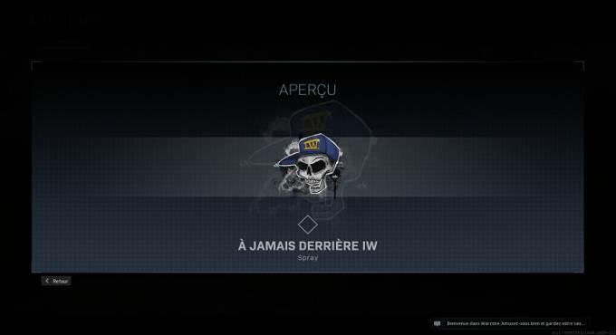 Guide Missions Call of Duty Warzone saison 4 spray À jamais derrière IW