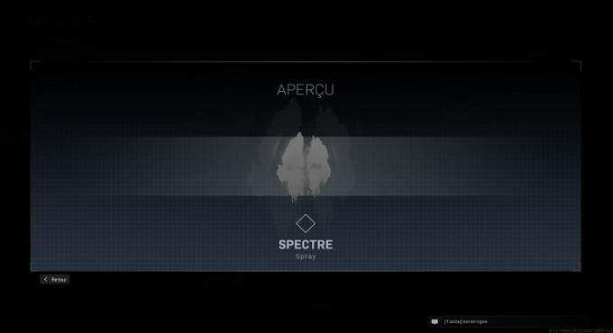 CoD Warzone saison 4 - Spray Spectre - Mission Expert en armes en Battle Royale