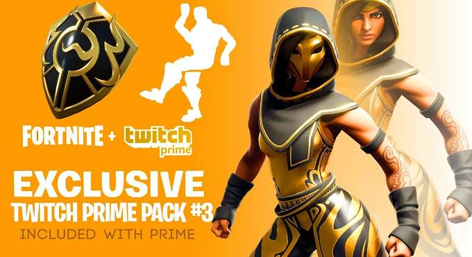 Fortnite Twitch Prime Pack 3 - Fortnite Twitch Prime Packs 2020