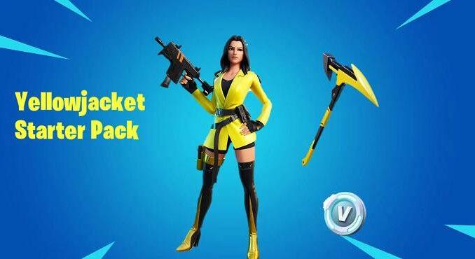 Fortnite YellowJacket Skin Starter Pack Prix et date sortie