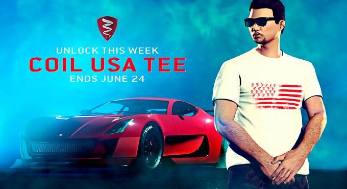 Débloquer T-shirt Coil USA dans Grand Theft Auto 5 Online