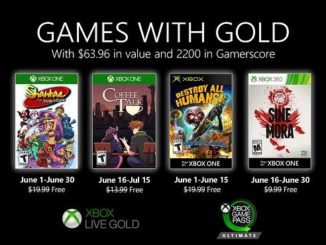 Jeux Xbox gratuits Games With Gold pour Juin 2020 révélés, XOne / X360