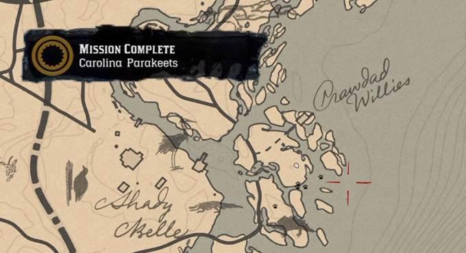 Mission perruche de Caroline dans RDR2 Guide