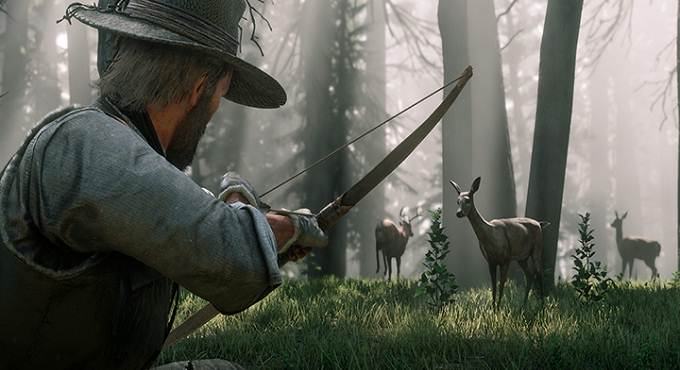 Arc dand Red Dead Redemption 2 : Guide de chasse