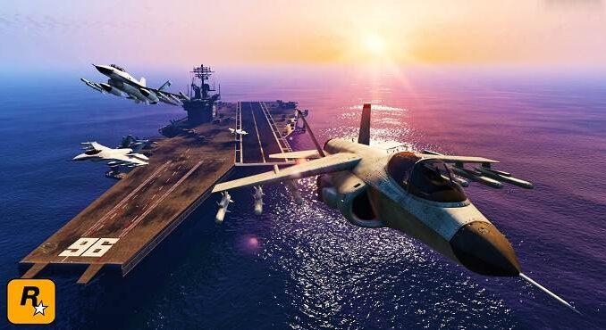 USS Luxington ATT-16 GTA Online porte-avions GTA 5 / GTA 6