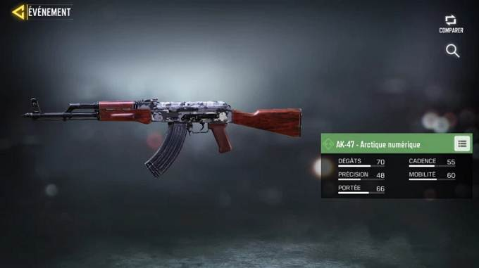 AK-47 - Arctique numérique - Call of Duty Mobile Saison 8 Mission Efficacité maximum guide