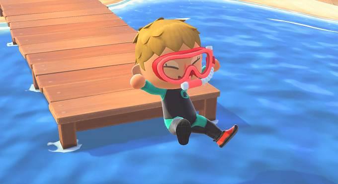 Animal Crossing New Horizons, débloquer nouveaux objets Plongée, mise à jour 1.3.0