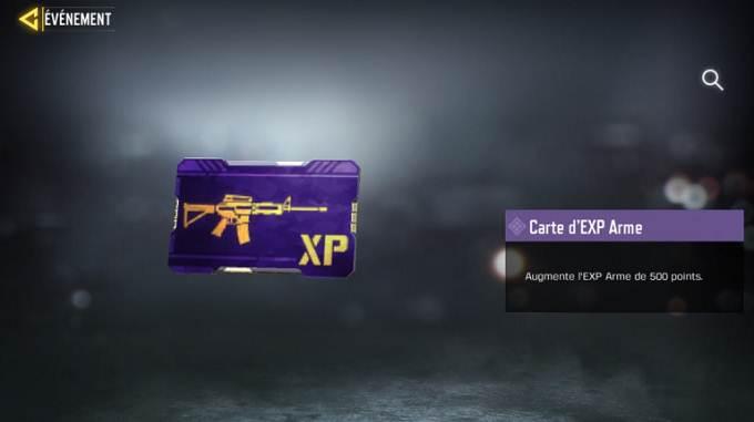 Carte d'Xp violette - Call of Duty Mobile Saison 8 mission Agent maître