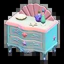 Commode sirène - Animal Crossing New Horizons Sirène, Pirate et Plongée, débloquer les nouveaux objets - mise à jour 1.3.0