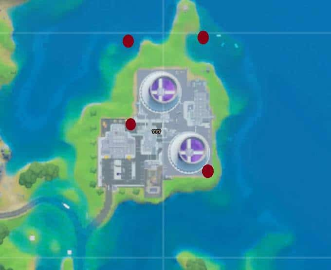 Collecter anneaux au-dessus de Steamy Stacks - Fortnite Saison 3, défis Semaine 5