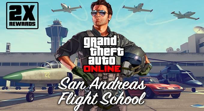 GTA 5 Online - école de pilotage - Double GTA$ et RP