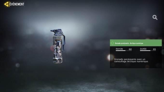 Grenade paralysante - Arctique numérique - Call of Duty Mobile Saison 8 Mission Efficacité maximum guide