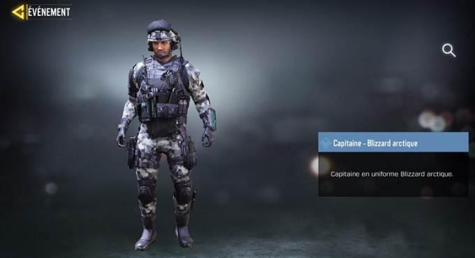 Mission Connaisseur - Call of Duty Mobile Saison 8 skin Capitaine - Blizzard arctique