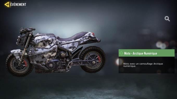 Moto - Arctique numérique - Call of Duty Mobile saison 8 mission Loi du plus fort