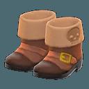Paire de bottes de pirate Animal Crossing New Horizons - Débloquer nouveaux objets Sirène, Pirate et Plongée