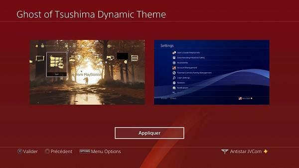 Télécharger Thème PS4 gratuit pour Ghost of Tsushima - Exclusivité PS4