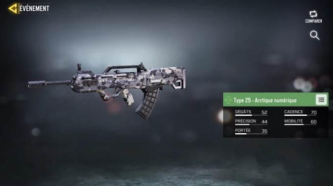 Type 25 - Arctique numérique - Call of Duty Mobile Saison 8 Mission Efficacité maximum Guide