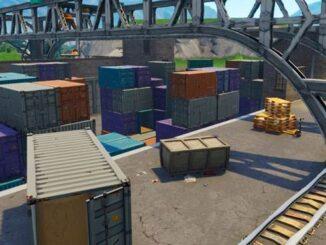Défi Fortnite détruire 7 conteneurs d'expédition à Dirty Docks