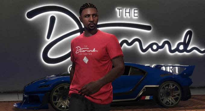 GTA V / GTA 5 Online - Débloquer t-shirt Red The Diamond