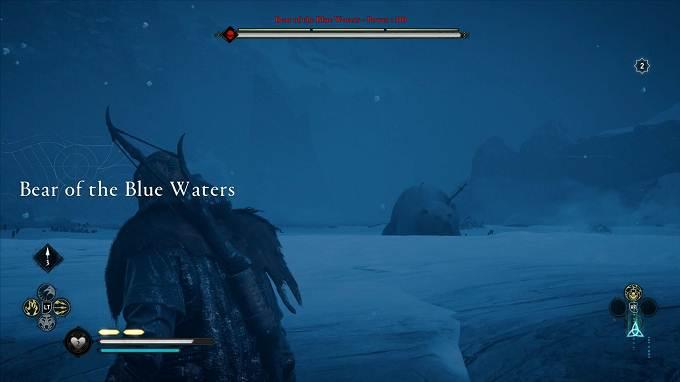 Animaux légendaires  dans Assassin's Creed Valhalla Guide - Hordafylke - Ours des eaux bleues