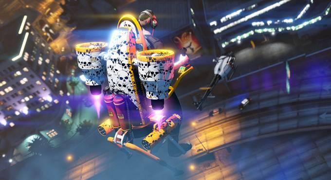 GTA ONLINE Motif Crânes gratuit pour le Thruster - PS5 - PS4 - Xbox - PC