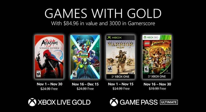 Novembre 2020 Jeux Xbox Games With Gold Guide