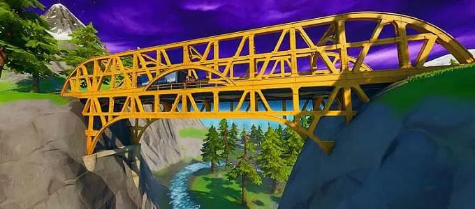 Pont orange - Danser sur des ponts colorés dans Fortnite - Guide PS5 PS4 Xbox PC Android Switch