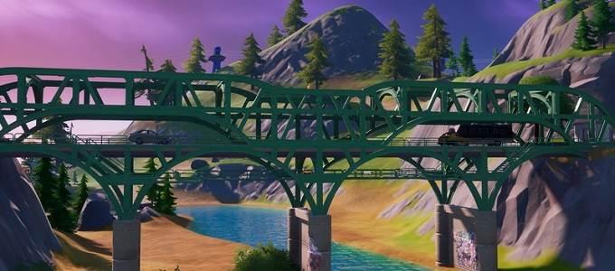Pont vert - Emplacement de ponts colorés dans Fortnite - Guide PS5 PS4 Xbox PC Android Switch