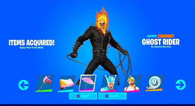 Comment gagner le skin Ghost Rider dans Fortnite