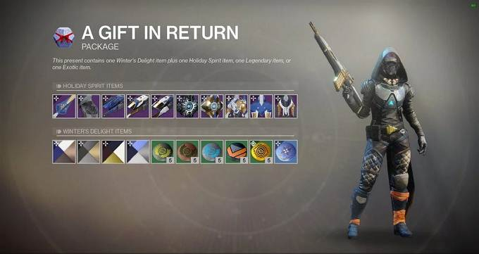 Destiny 2 Dawning 2020 - Cadeaux des vacances - The Dawning Spirit