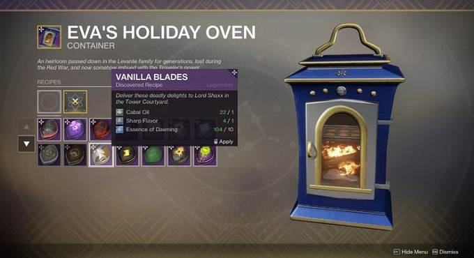 Destiny 2, Dawning - Eva's Holiday Oven 2.0 - Destiny 2 Beyond Light - Destiny 2 Beyond Light guide