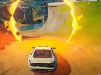 Fortnite Saison 5 où conduire à travers les anneaux enflammés