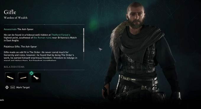 Guide Assassin's Creed Valhalla Gifle - localiser membre de l'Ordre des Anciens