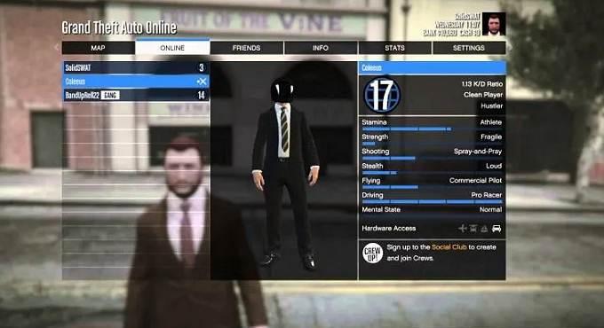 Comment desactiver d'autres joueurs dans GTA Online