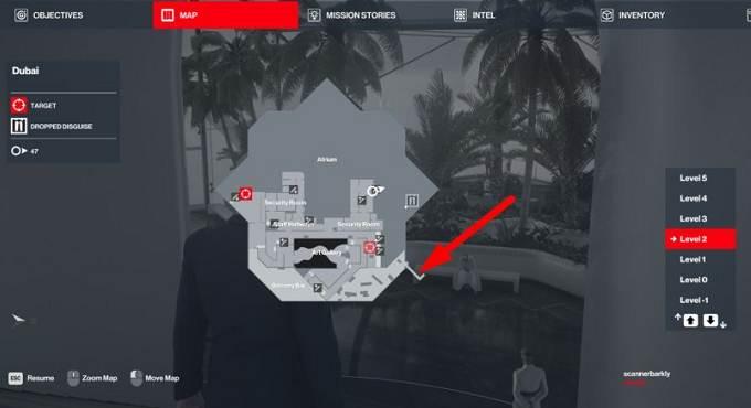 Hitman 3 - Emplacement la clé d'hélicoptère à Dubaï - Guide PS5 PS4 XBOX PC