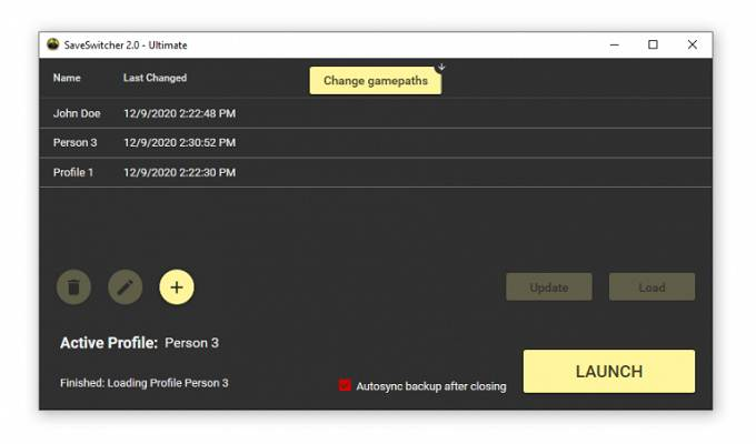 Guide PC mods Cyberpunk 2077 - Saveswitcher 2 (Profile Manager)