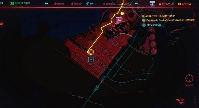 Où trouver Javelina Type-66 de Cyberpunk 2077 (CP77)