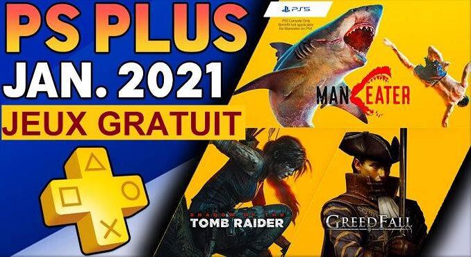 PS Plus Janvier 2021 Jeux PS5 et PS4 gratuits annoncés