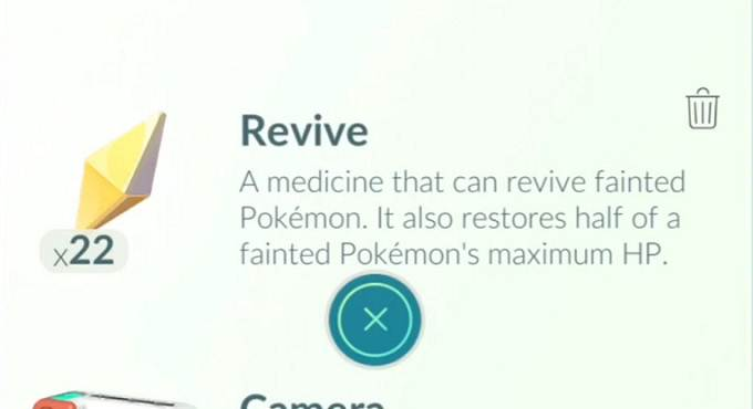 Pokemon Go Revives et Max Revives - Android iOs