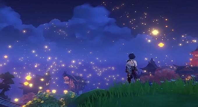 Genshin Impact festival Lantern Rite (Rite des Lanternes)