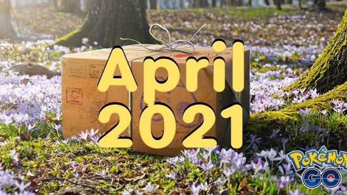 Pokemon Go événements d'avril 2021